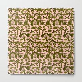 Exotic Garden - Olive Metal Print
