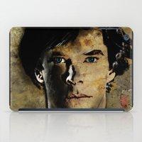 cumberbatch iPad Cases featuring Cumberbatch as Sherlock Holmes by André Joseph Martin