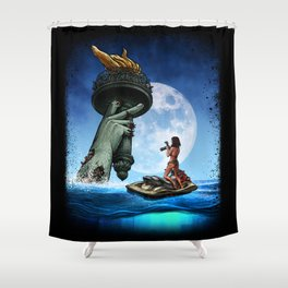 Winya No.18 Shower Curtain