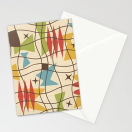 Mid Century Modern Abstract Pattern 571 Stationery Cards