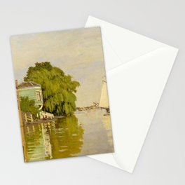 Claude Monet - Houses on the Achterzaan (1871) Stationery Cards