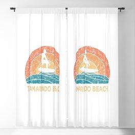 Tamarindo Beach Vintage Surfing TShirt Retro Surfing Shirt Surfer Gift Idea  Blackout Curtain