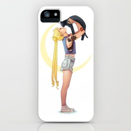 Usagi and Luna iPhone Case