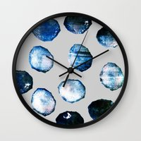mineral Wall Clocks featuring mineral 03 by LEEMO