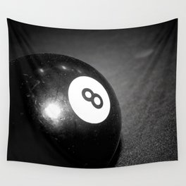 Eight Ball-Black Wall Tapestry