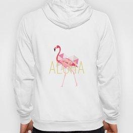 Pink Flamingo Triangle Aloha Hoody