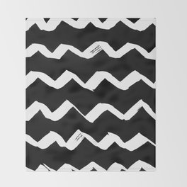 Ink Chevron(invert) Throw Blanket