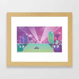 Land of the Blob Framed Art Print