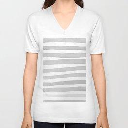 Watercolor Stripes. Unisex V-Neck