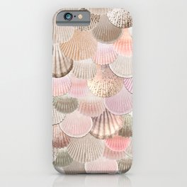MERMAID SHELLS - CORAL ROSEGOLD iPhone Case