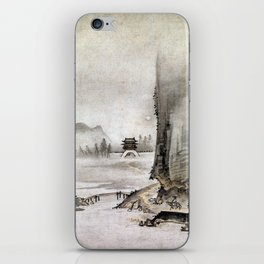 Kantei Two Views from the Eight Views of the Xiao and Xiang Rivers iPhone Skin