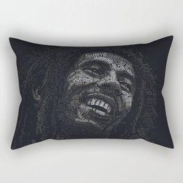 Tuff Gong Marley Text Art Rectangular Pillow