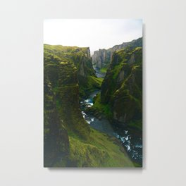 River in the Valley (Color) Metal Print