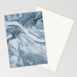 Cipollino Azzurro blue marble Stationery Cards