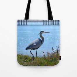 heron by the bridge Tote Bag