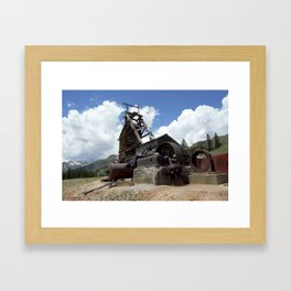 Exploring the Longfellow Mine of the Gold Rush - A Series, No. 2 of 9 Framed Art Print
