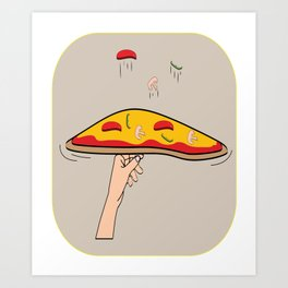 Funny And Awesome Toss Tshirt Design Pizza toss Art Print
