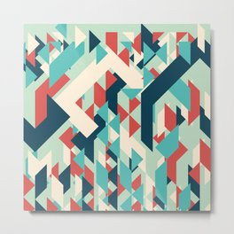 Abstract geometric background. Modern overlapping small triangles. Metal Print