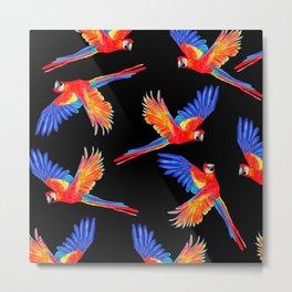 Parrot Party Metal Print
