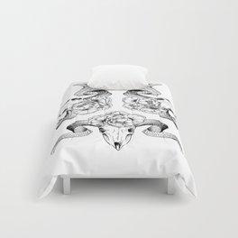 Floral Skull Illustration Comforters