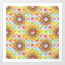 Birthday Party Polka Dots Art Print