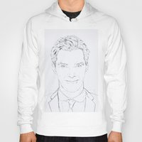 benedict cumberbatch Hoodies featuring Benedict Cumberbatch by Tatiana D.