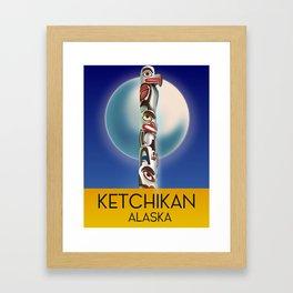 Ketchikan Alaska travel poster Framed Art Print