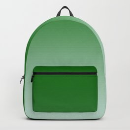 Green to Pastel Green Horizontal Linear Gradient Backpack