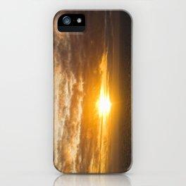 Sunset over the Irish Sea iPhone Case