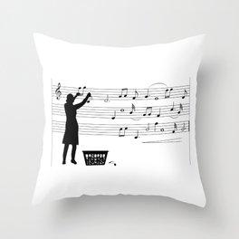 making more music Throw Pillow