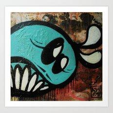 Mucky vs. found canvas  Art Print