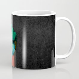Ethiopian Flag on a Raised Clenched Fist Coffee Mug