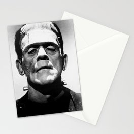 Frankenstein 1933 classic icon image, flawless, timeless horror movie classic Stationery Cards