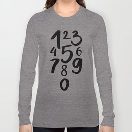 1 2 3 Long Sleeve T-shirt