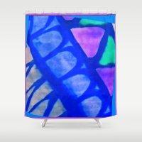 batik Shower Curtains featuring Batik by Susan Laine Studios
