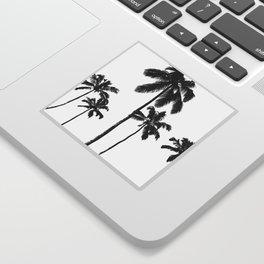 Monochrome tropical palms Sticker