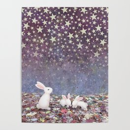 bunnies under the stars Poster