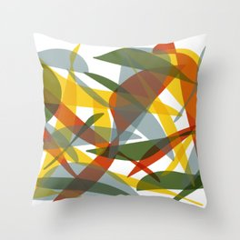 Abstract Whale / Abstract Snail Throw Pillow
