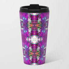 Purple digital patchwork Metal Travel Mug