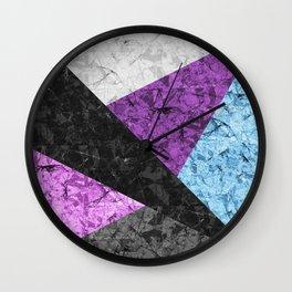 Marble Geometric Background G437 Wall Clock