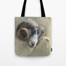 Dougal - A black faced Welsh ram Tote Bag