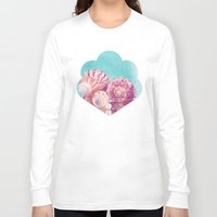 seashell Long Sleeve T-shirts featuring Seashell Group by INA Artist