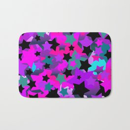 Punk Rock Star Crazy Bath Mat