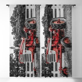 IH 240 Farmall Tractor Red Tractor Color Isolation Blackout Curtain