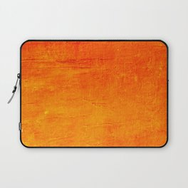 Orange Sunset Textured Acrylic Painting Laptop Sleeve
