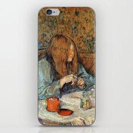 "Henri de Toulouse-Lautrec ""Madame Poupoule at Her Dressing Table"" iPhone Skin"