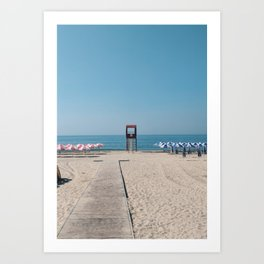 Perfect beach day in Busan, Korea Art Print