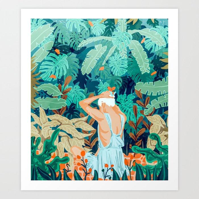 Backyard #illustration #painting Art Print