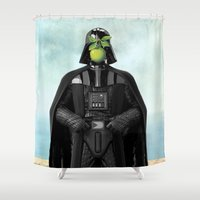 """magritte Shower Curtains featuring Darth Vader in """"The Son of a Man"""" by Magritte by Luigi Tarini"""