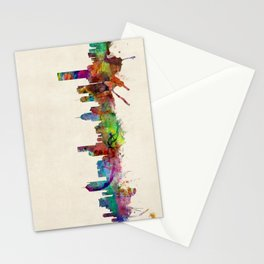Melbourne Australia Skyline Stationery Cards